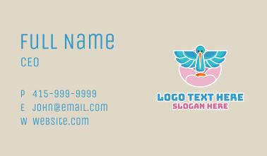 Dream Pastel Stork Business Card