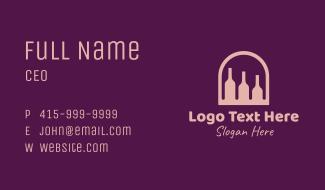 Window Wine Cellar Business Card