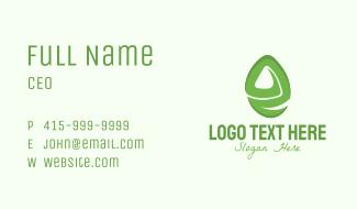 Green E Gemstone Business Card