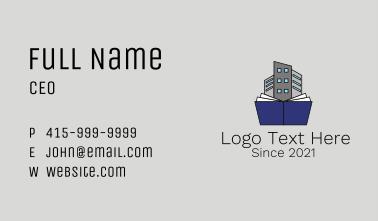 Building Blueprint Book Business Card