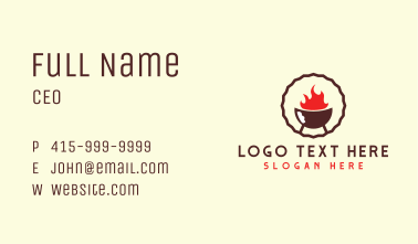 Hot Barbecue Restaurant Business Card