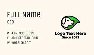 Organic Leaf Dog Business Card