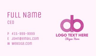 Feminine A & B Business Card