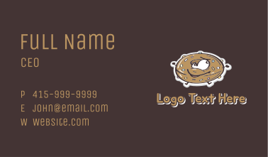Happy Donut Mascot  Business Card