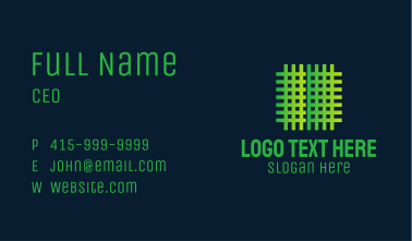 Green Fabric Weave Business Card