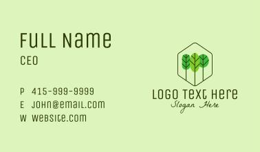 Minimalist Tree Park Business Card