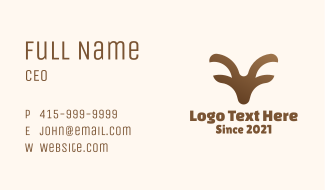 Brown Wild Ram Business Card