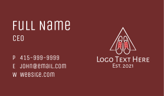 Shoe String Triangle Business Card