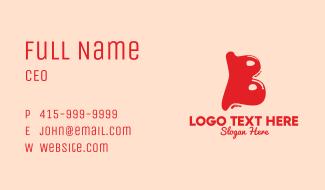 Liquid Soda Letter B Business Card
