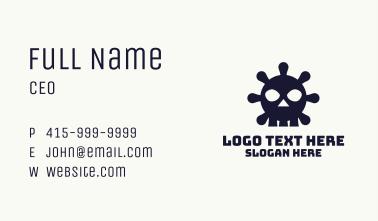 Deadly Virus Skull Business Card