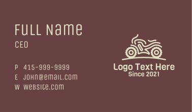 Motorcycle Race Sports Business Card