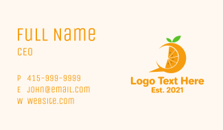 Orange Slice Chat Business Card