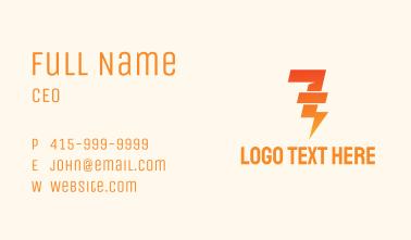 Lightning Number 7 Business Card