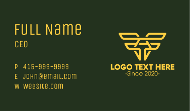 Aviation Wings Letter A Business Card