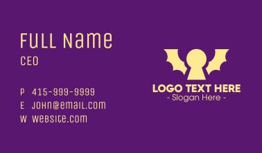Yellow Bat Keyhole Business Card