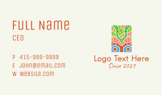 Colorful Nature Photography Business Card