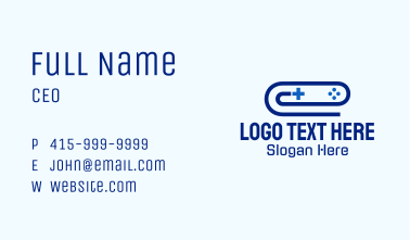 Gaming Console Clip Business Card