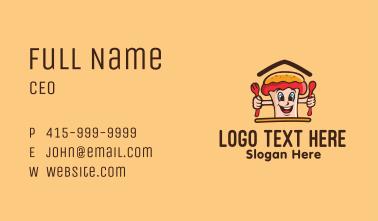 Cute Hot Dog Sandwich Mascot Business Card