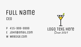 Martino Piano Glass Business Card