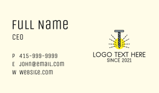 Letter T Nail Business Card