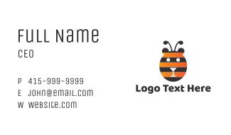 Bear Bee Stripes Business Card