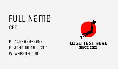 Japan Country Emblem  Business Card