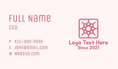 Flower Mobile App Business Card