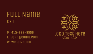 Gold Islamic Symbol  Business Card