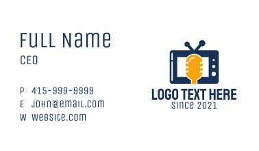 Podcast Television Network Business Card