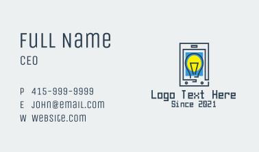 Lightbulb Mobile Tablet  Business Card