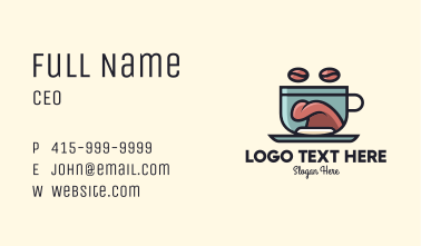 Coffee Tongue Cup Mascot Business Card