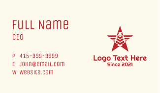 Eagle Red Star Business Card