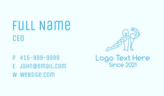 Blue Muscular Man Business Card