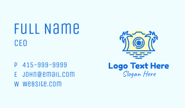 Tropical Photo Camera Business Card