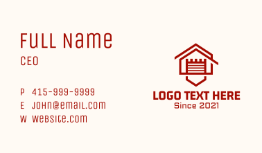 House Fortress Garage Business Card