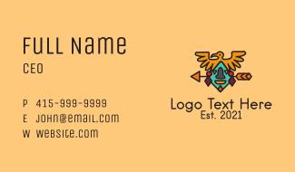 Ancient Mayan Headdress  Business Card