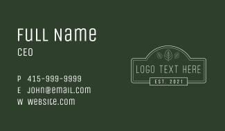 Minimalist Signage  Wordmark Business Card