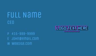 Futuristic Cartoon Wordmark Business Card