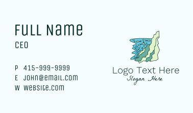 Underwater Fish Coral Business Card