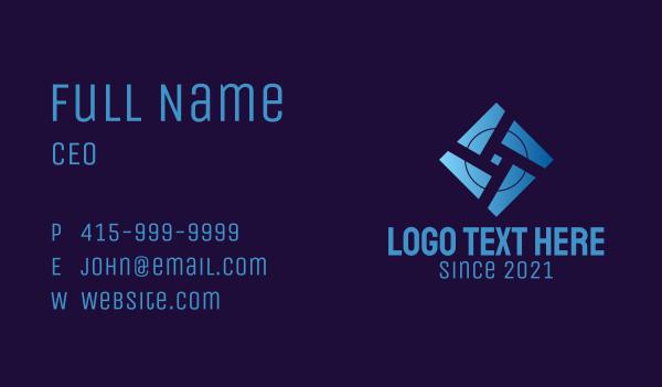 it expert - Digital Electronics Circuit Business card horizontal design