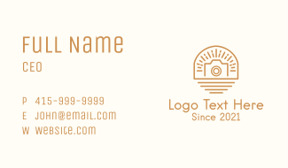 Sunburst Camera Badge Business Card