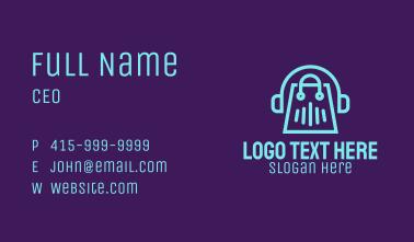 Music Store Headphones Business Card