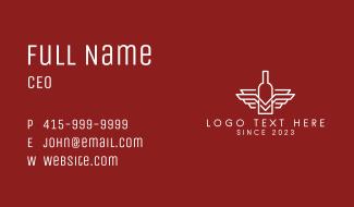 Wine Bottle Emblem Business Card