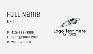 Electronic Vacuum Cleaner  Business Card