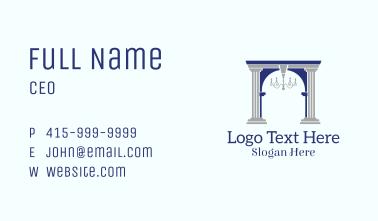 Elegant Archway Chandelier Business Card