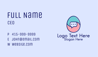 Egg Message Chat Business Card