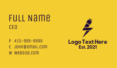 Electric Flash Drive Business Card