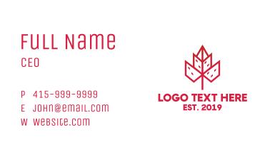Geometric City Flower Business Card