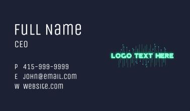 Glowing Circuit Wordmark  Business Card