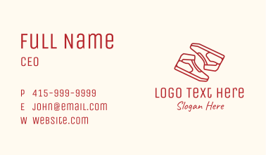 Red Sneaker Shoes Business Card